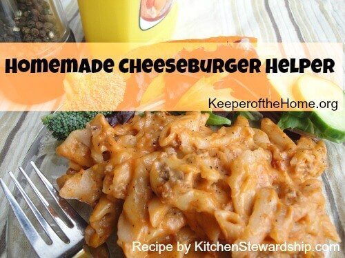 No, You Don't Have to Make Your Own Ketchup {Recipe: Homemade Cheeseburger Helper} 1