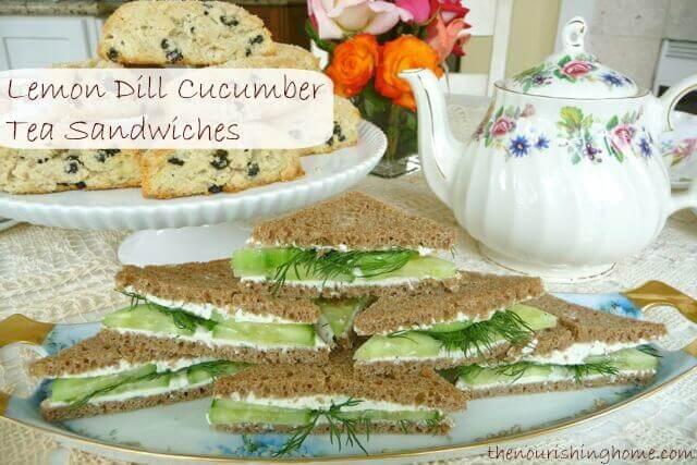Lemon Dill Cucumber Tea Sandwiches