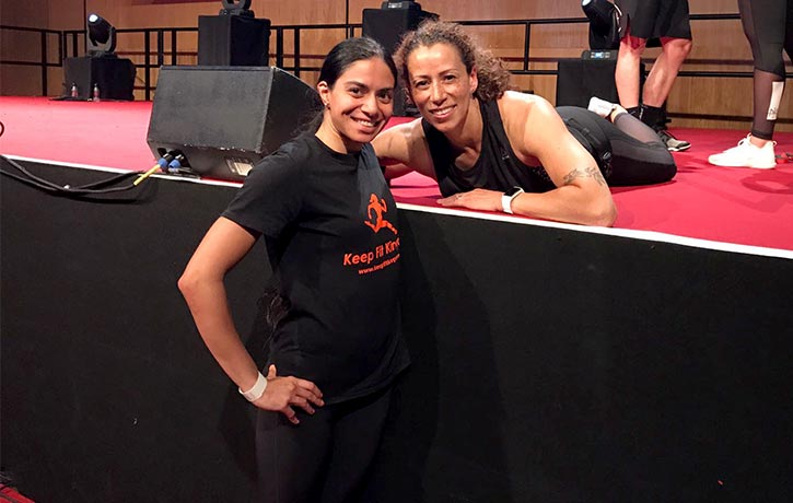 With one of the trainers from CXWORX
