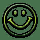happy face green