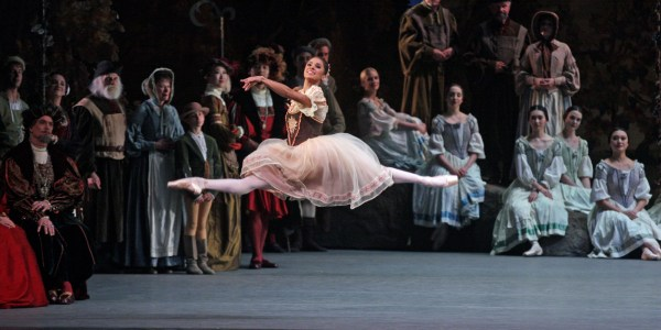 """American Ballet Theater performing """"Giselle"""" at Metropolitan Opera House on Saturday night, May 23, 2015.This image:Misty Copeland.(Photo by Hiroyuki Ito/Getty Images)"""