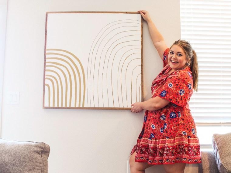 DIY framed canvas art under $50 + no power tools
