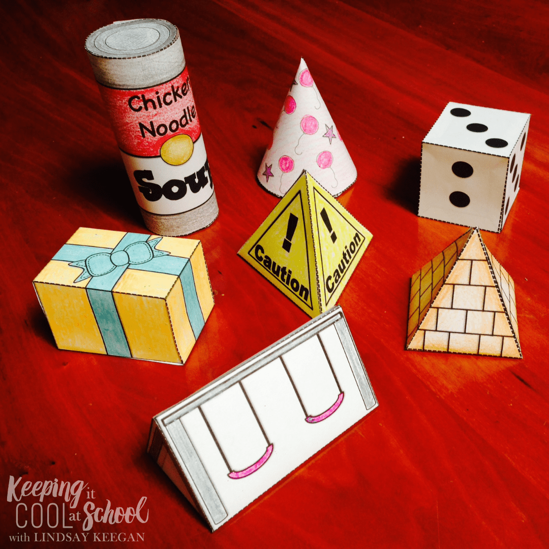 3d shapes activities for kids