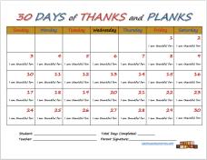 30 Days Calendar Screen Shot