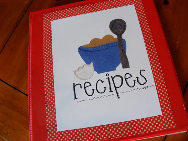 Creative Recipe Book Cover : Recipe binder keeping life creative