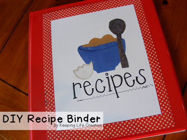 DIY Recipe Binder with printables