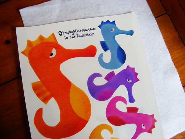 {DIY} Tutorial on creating your own felt story figures for flannel boards, storytelling, and play. Tutorial includes a bonus seahorse printable and activity idea for Mr. Seahorse by Eric Carle.