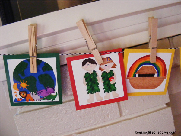 Create simple Jesse Tree ornaments for a Christmas advent project or Biblical timeline.