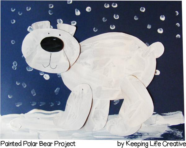 Printable Painted Polar Bear Craft