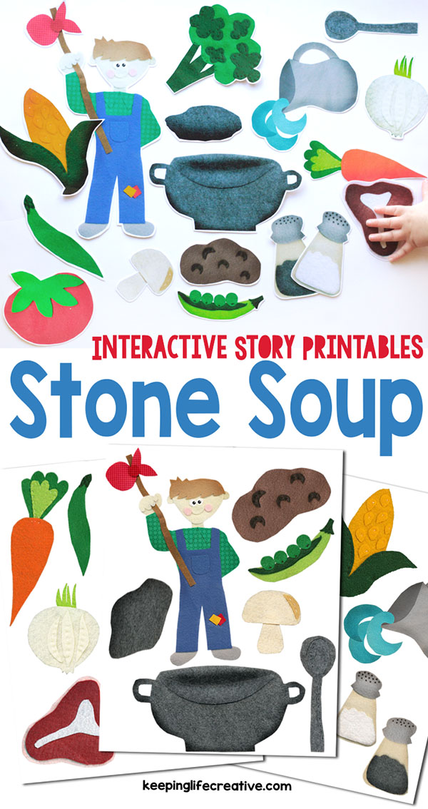 Unusual image within stone soup story printable