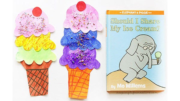 Should I Share My Ice Cream? {Book and Craft}
