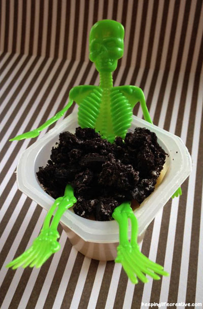 Creepy Crawly Pudding Cup Halloween Snack