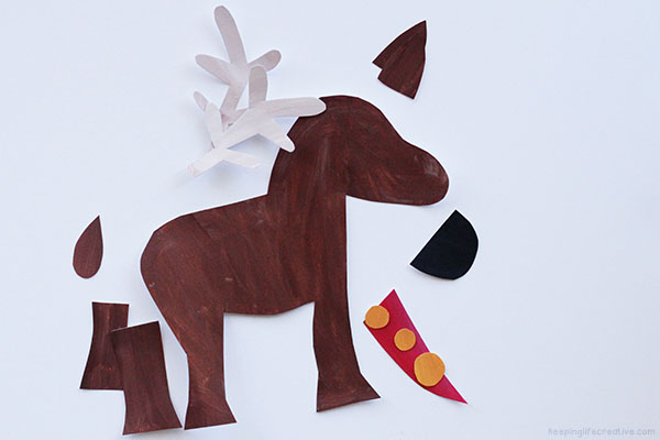 Printable reindeer craft template keeping life creative for Reindeer tail template