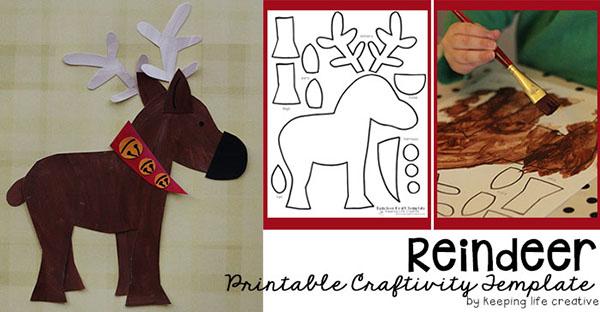 Printable Reindeer Craft Template