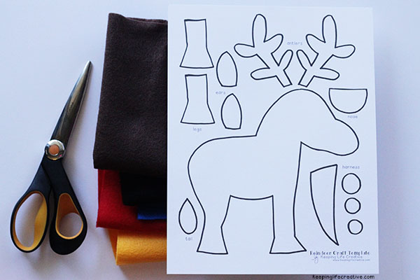 printable reindeer craft template keeping life creative
