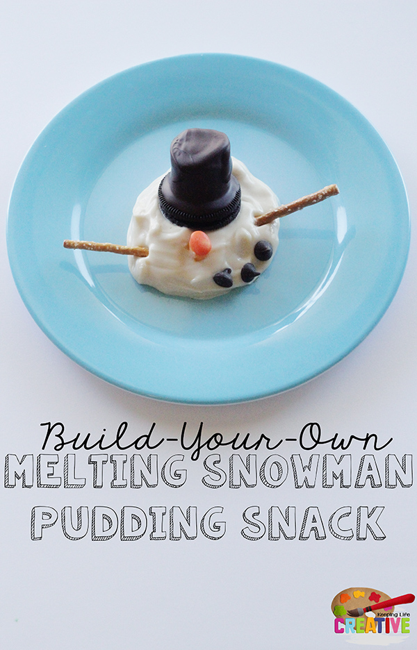 Build-Your-Own Melting Snowman pudding snack