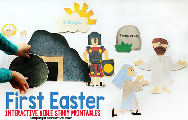 Interactive Resurrection Easter Story Printables