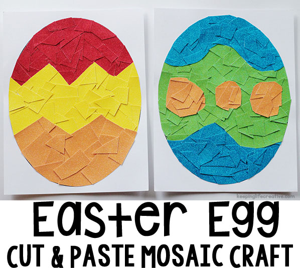 Cut-and-Paste Mosaic Easter Eggs