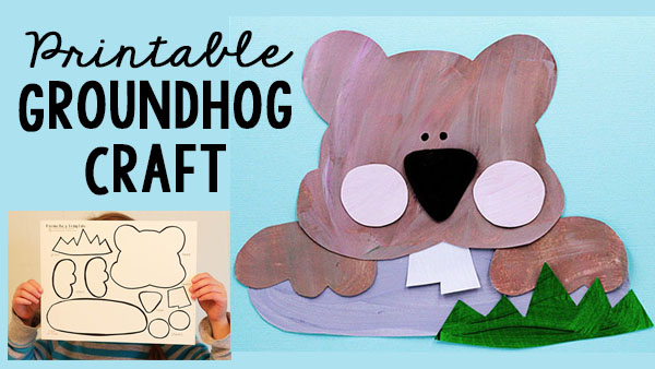 Groundhog Day Printable Craft for Kids