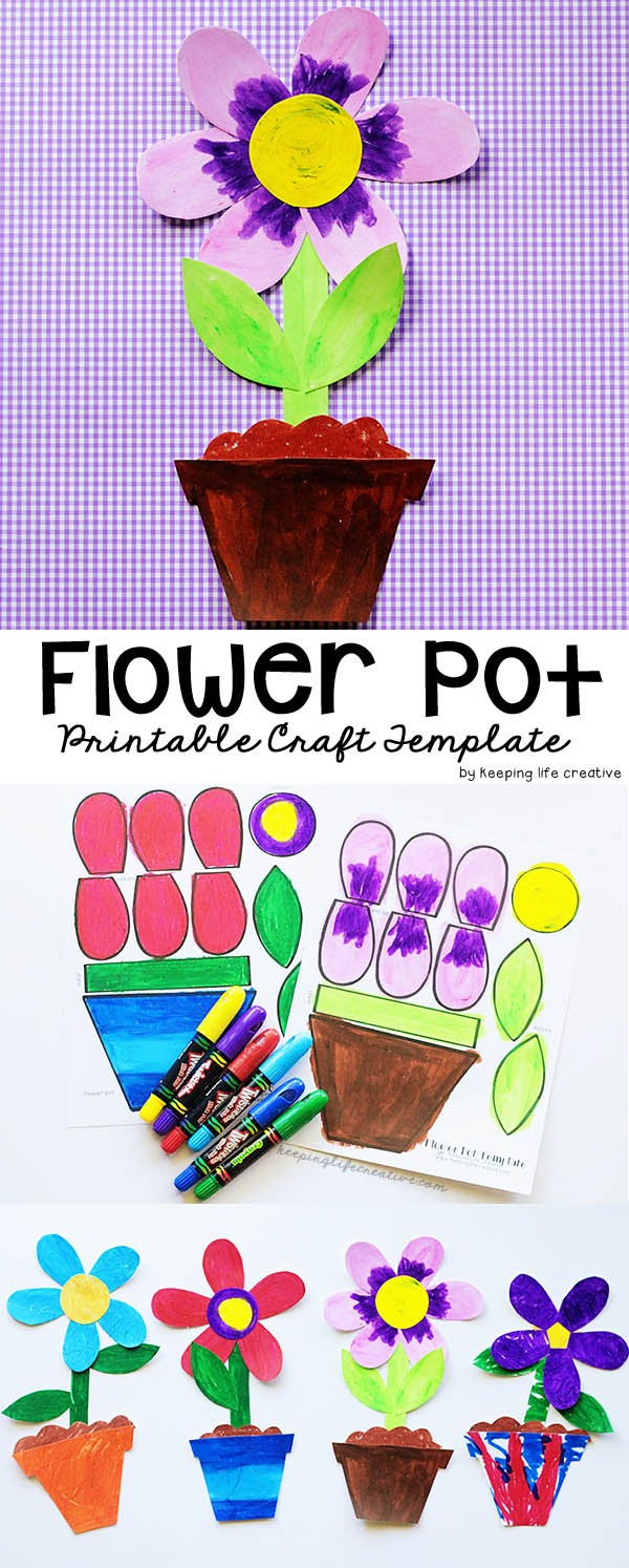 Flower Pot Craft Template