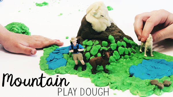 How to Make a Model Mountain with Playdough