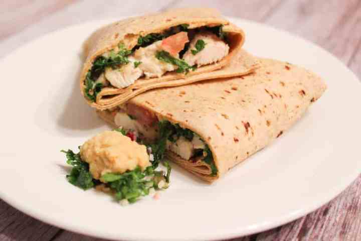 Weight Watchers Chicken Hummus Roll Up