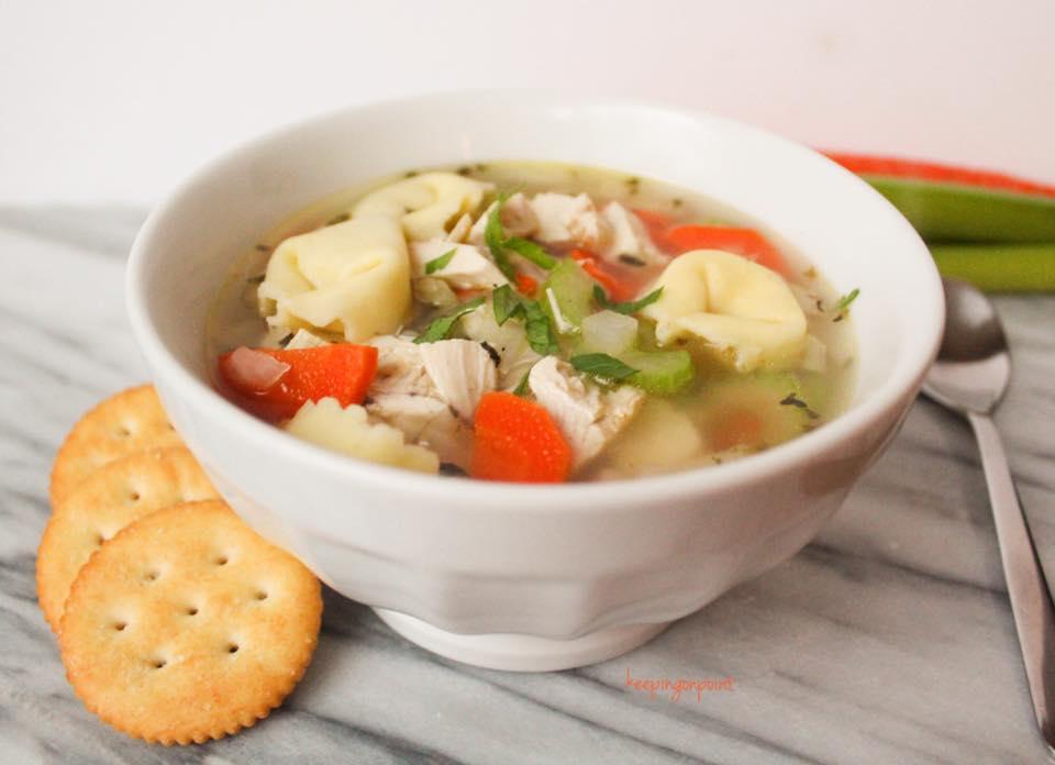 30 minute chicken cheese tortellin soup weight watchers freestyle 2