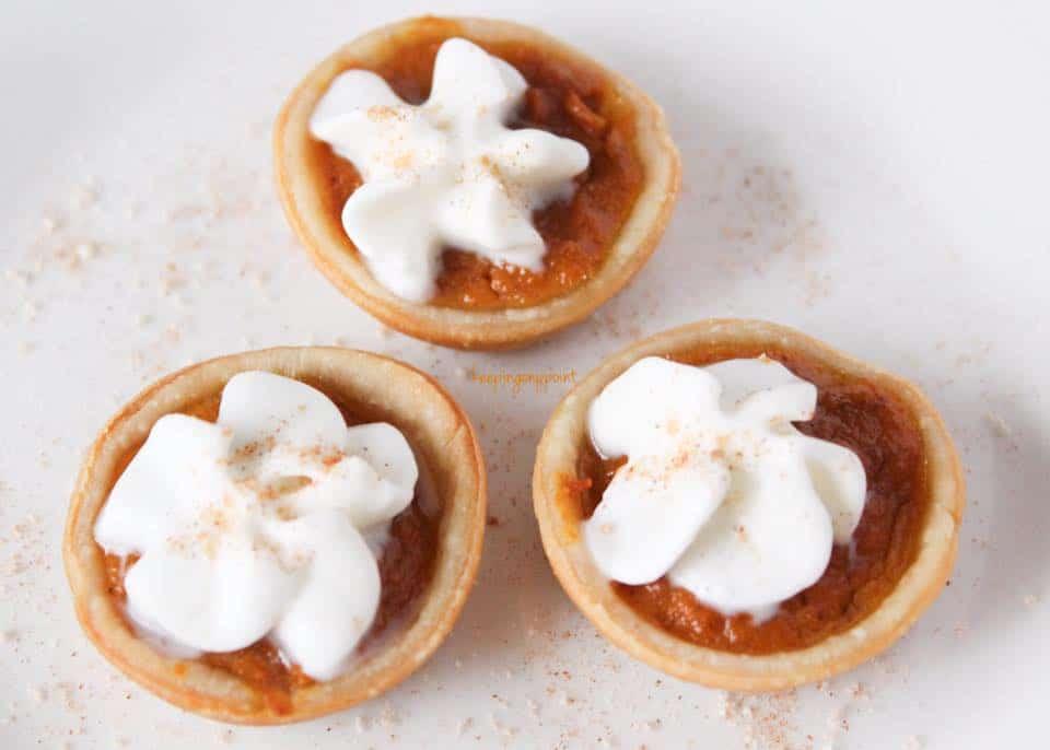 Weight Watchers Freestyle mini pumpkin pies