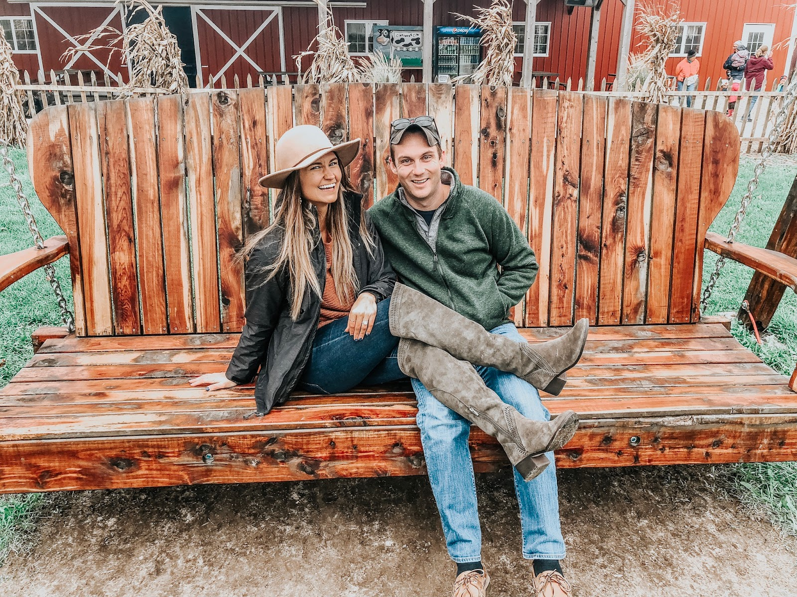 Tampa blogger hanging out on Schuster's Farm in Deerfield, Wisconsin