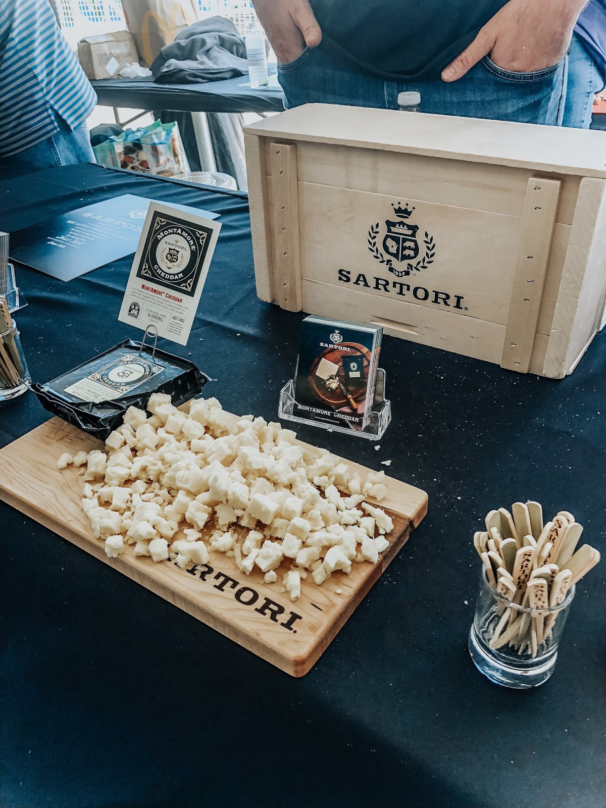 Sartori cheese stall at Clearwater Beach's Uncorked Food and Wine festival