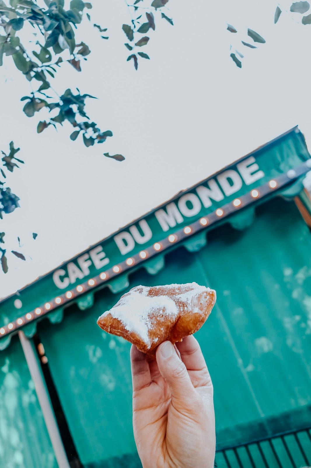 To go beignets at Cafe du Monde in New Orleans