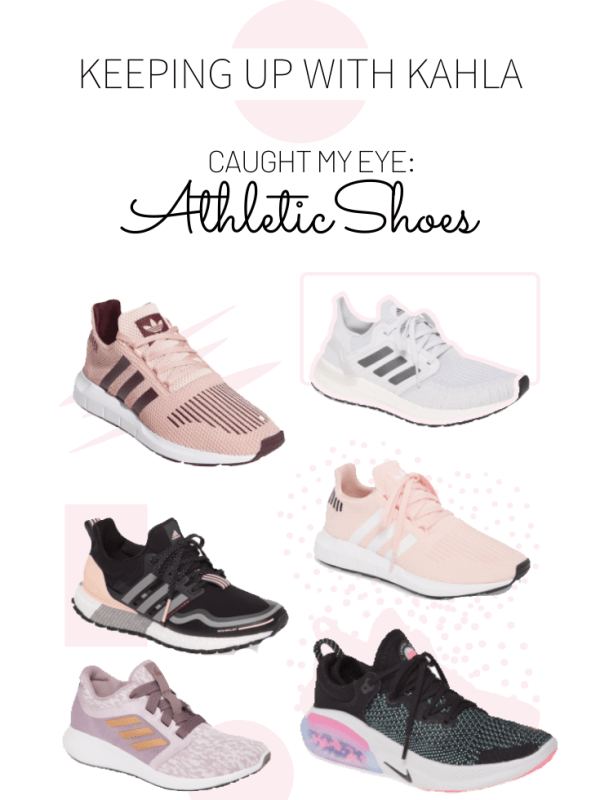 Round up some cute and sporty athletic shoes to help you get to the gym and workout