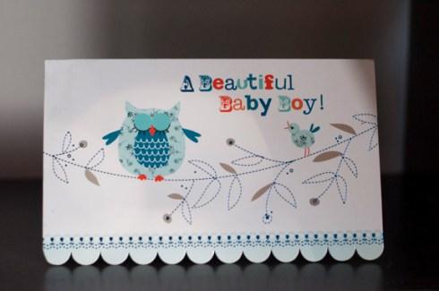 baby boy card