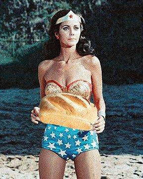 Wonder Woman bakes bread too