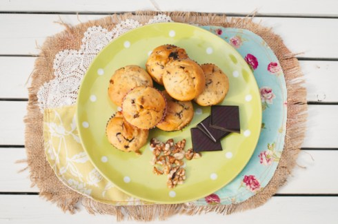 pear and date muffins
