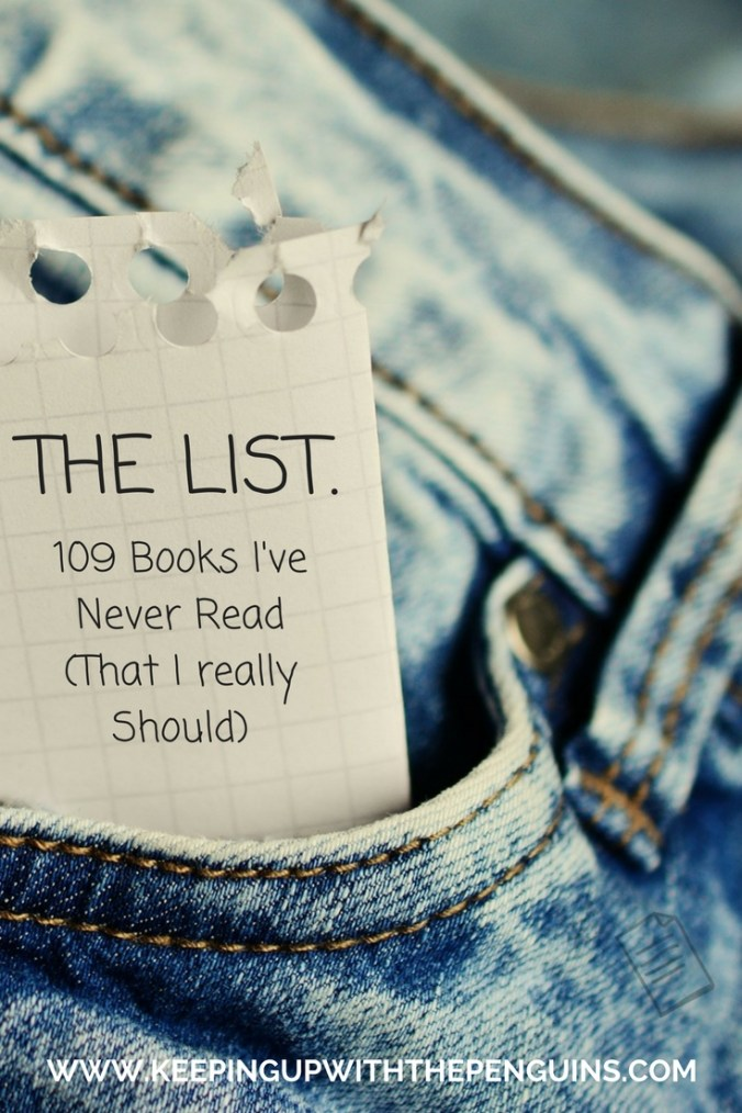 The List - black text on a piece of white paper sticking out of a jeans pocket - Keeping Up With The Penguins