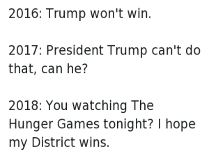 The Hunger Games - President Trump Can't Do That, Can He? - Keeping Up With The Penguins