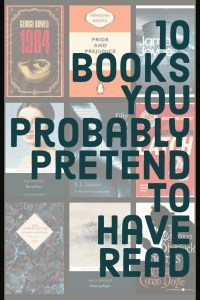 10 Books You Probably Pretend To Have Read - Text on Background Grid of Book Covers - Keeping Up With The Penguins