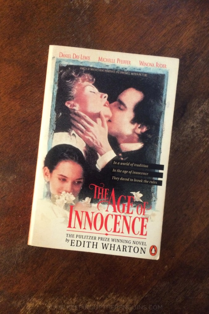 The Age Of Innocence - Edith Wharton - Book Laid Flat on Wooden Table - Keeping Up With The Penguins