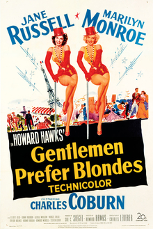 Movie Review - Gentlemen Prefer Blondes 1953 Movie Poster - Keeping Up With The Penguins
