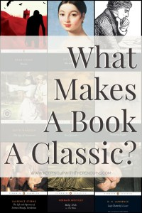 What Makes A Book A Classic? - Text Overlaid on Collage of Penguin Classics Book Covers - Keeping Up With The Penguins