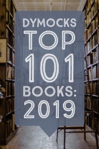 Dymocks Top 101 Books 2019 - Text in Speech Bubble Overlaid on Image of Bookstore Shelves - Keeping Up With The Penguins