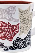 Mug With Literary Cat Quotes - Keeping Up With The Penguins