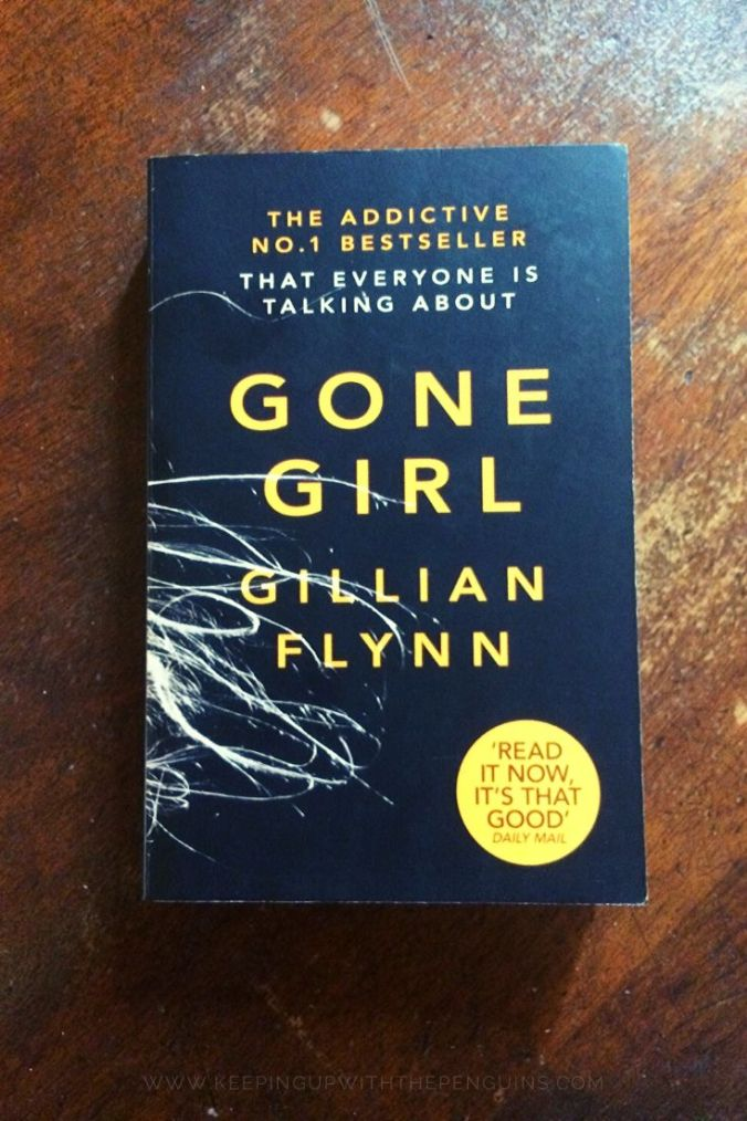 Gone Girl - Gillian Flynn - Book Laid on Wooden Table - Keeping Up With The Penguins