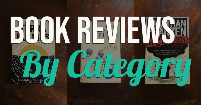 Book Reviews by Category - Text Overlaid on Collage of Book Covers - Keeping Up With The Penguins