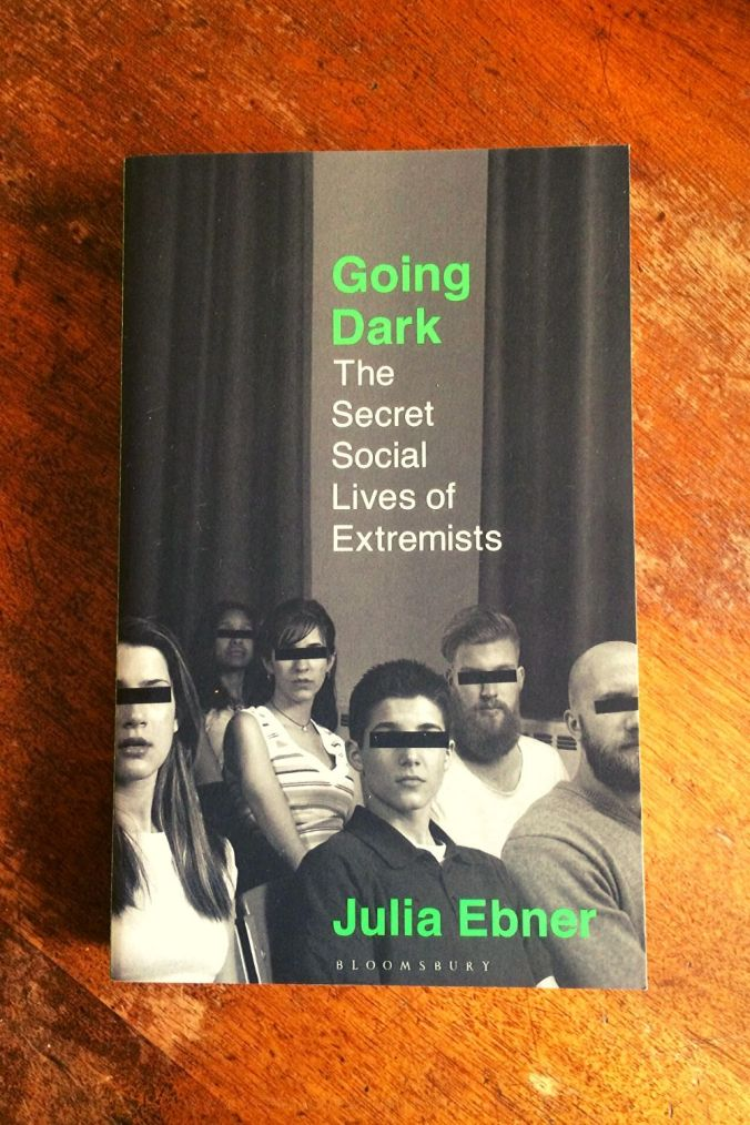 Going Dark - Julia Ebner - Book Laid on Wooden Table - Keeping Up With The Penguins