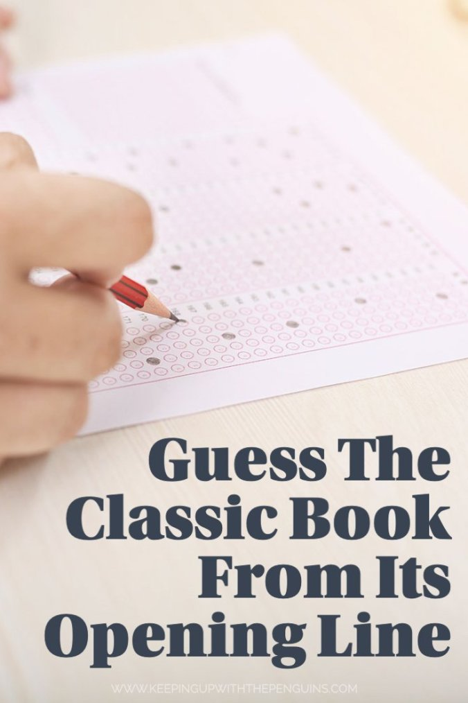 Guess The Classic Book From Its Opening Line - Keeping Up With The Penguins