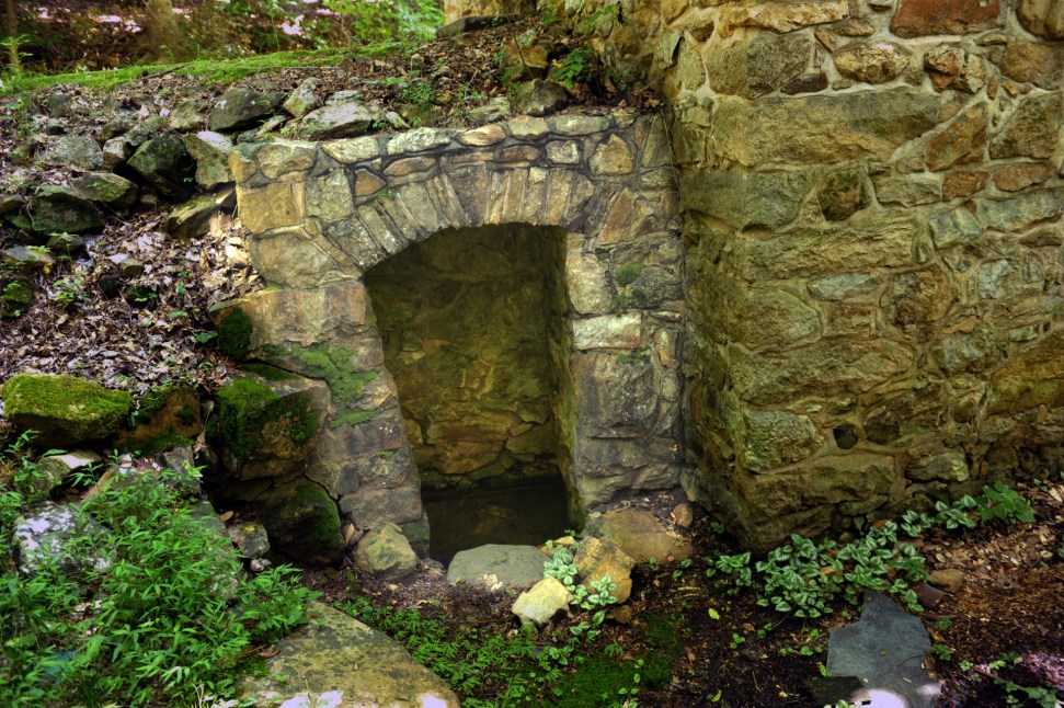 The original springblock built in the 1760s at the Hezekiah Alexander House. Photo: Nancy Pierce
