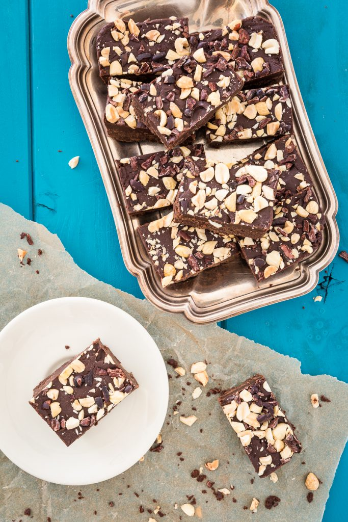 "Peanut Butter Chocolate Fudge from Kristy @Keepin'ItKind.com - March's ""Family Favorite Dessert - Veganized"" entry"