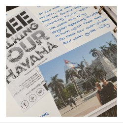 inside page of a scrapbook containing text a photo and a leaflet keepsake